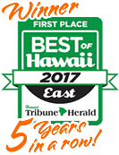 Best Solar Installer Winner Best of East Hawaii 5 years in a row!