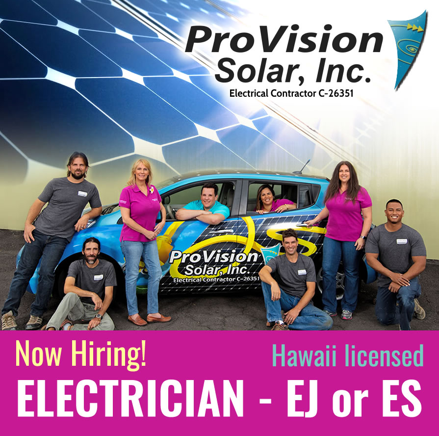ProVision Solar now hiring: Electrician