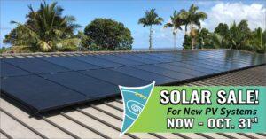 PVS October 2019 Solar Sale
